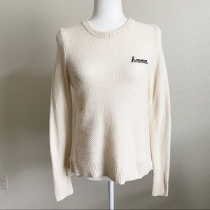 Madewell Ivory Hmmm Button Back Sweater Small